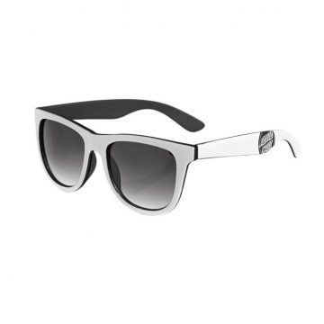santa cruz reverse dot sunnies white