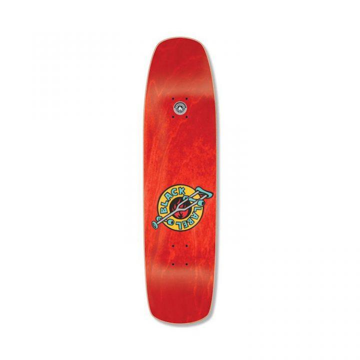 "Black Label OG skateboard Crutch OG Crutch - Curb Cut Deck - 8.5"" - Red"