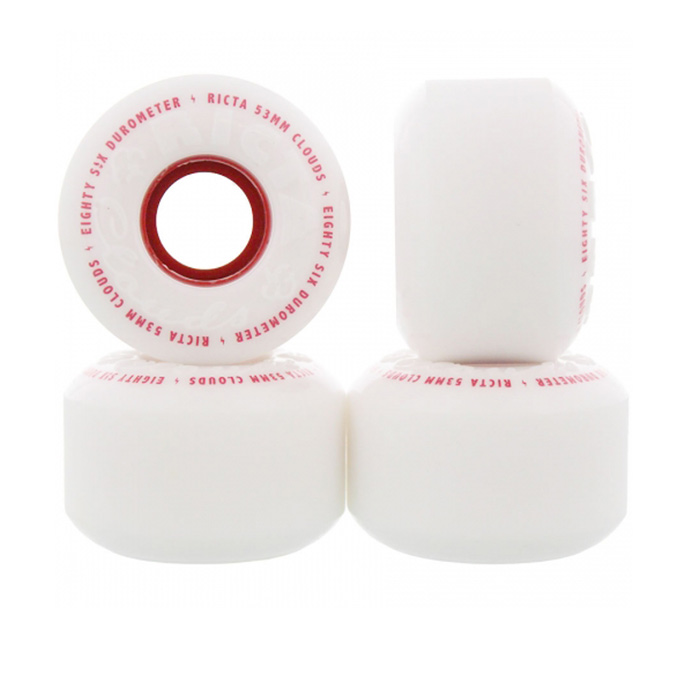 Ricta Skateboard wheels Clouds red 53mm 86a