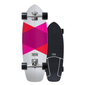 Carver surf skate Triton Red Diamond CX skateboard