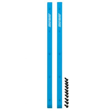 Santa Cruz skateboard rails blue