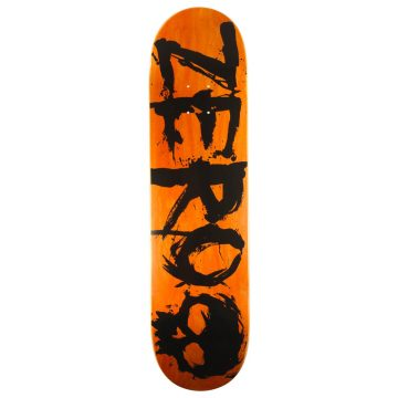 "Zero Skateboards Orange 8.0"" deck only"
