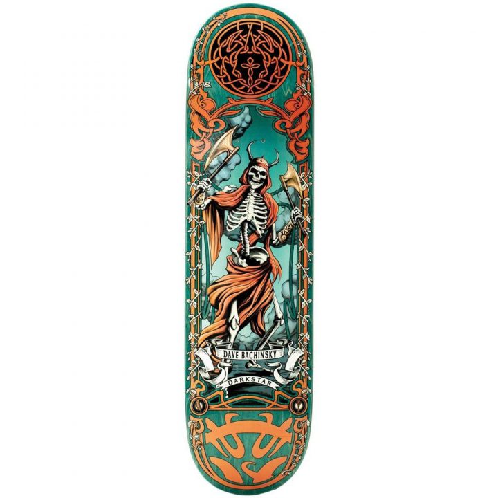 Darkstar skateboard deck celtic Bachinsky 8.125""