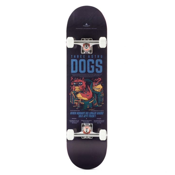 """Heartwood Skateboards - Astro Dogs 7.75"""" complete"""