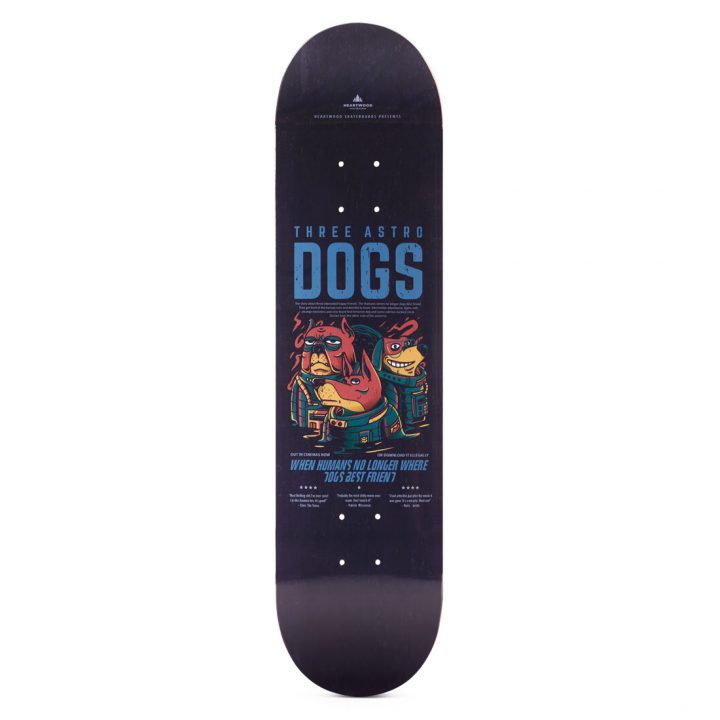 """Heartwood Skateboards - Astro Dogs 7.75"""" deck"""