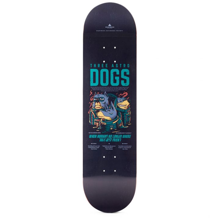 """Heartwood Skateboards - Astro Dogs 8.25"""" deck"""