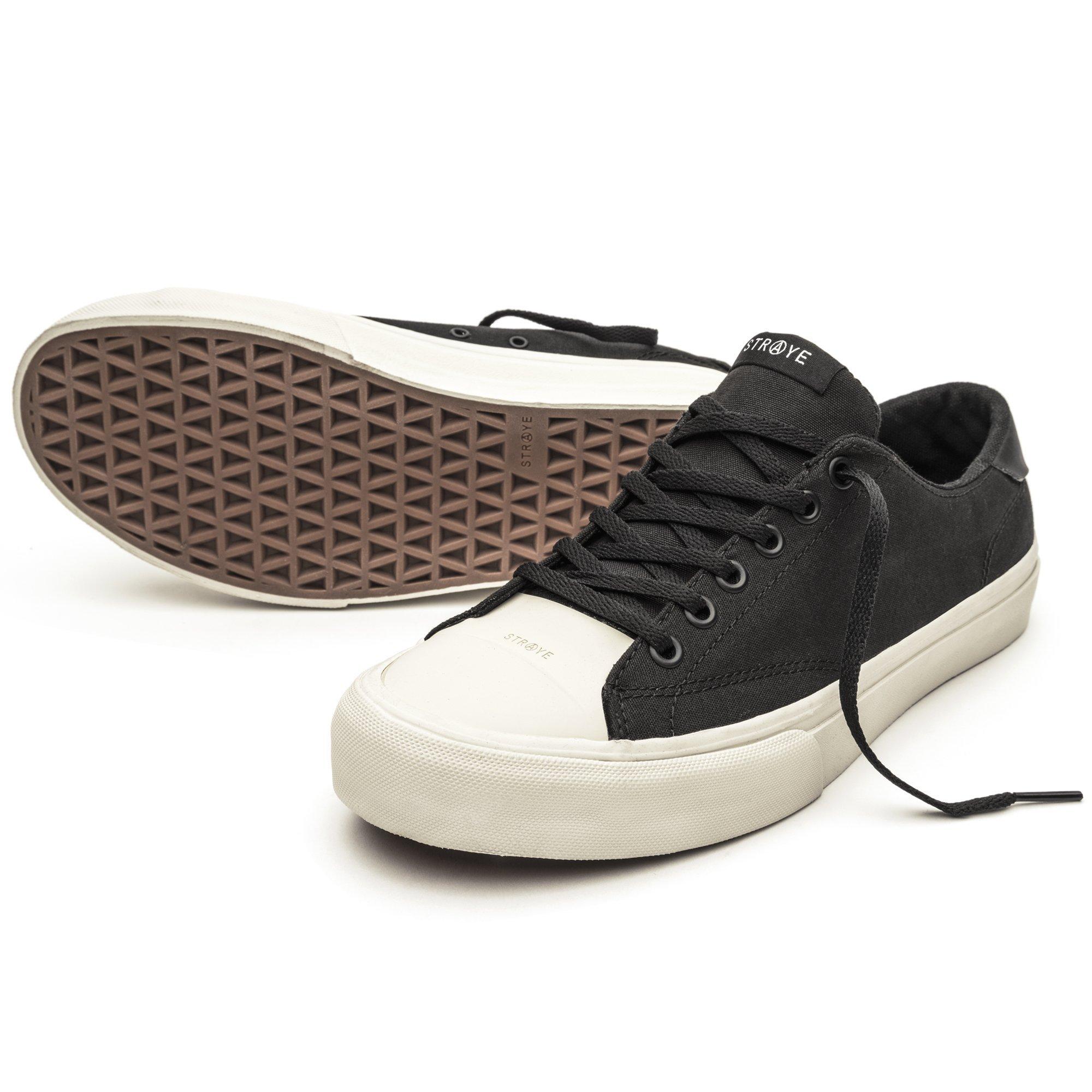 Black//Grey//Suede Straye Stanley Skate Shoes