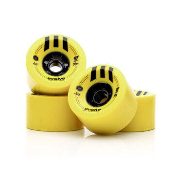 Evolve Skateboards street wheels 97mm Yellow 76a