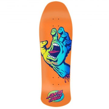 Santa Cruz - skateboards screaming hand orange pre-issue deck 10""