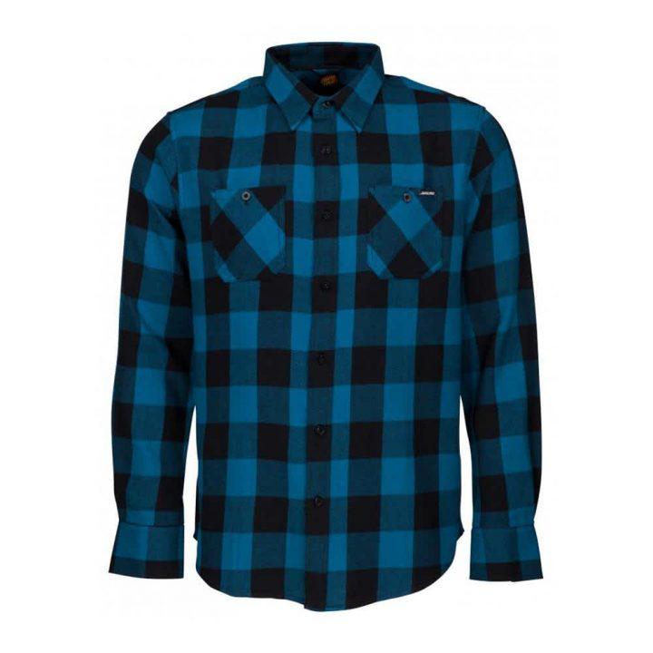 Santa Cruz Excess Work Shirt - Ink Blue Check