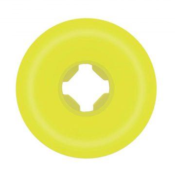 Santa Cruz Slime Balls Vomit Mini II Yellow 54mm 97a skateboard wheel back