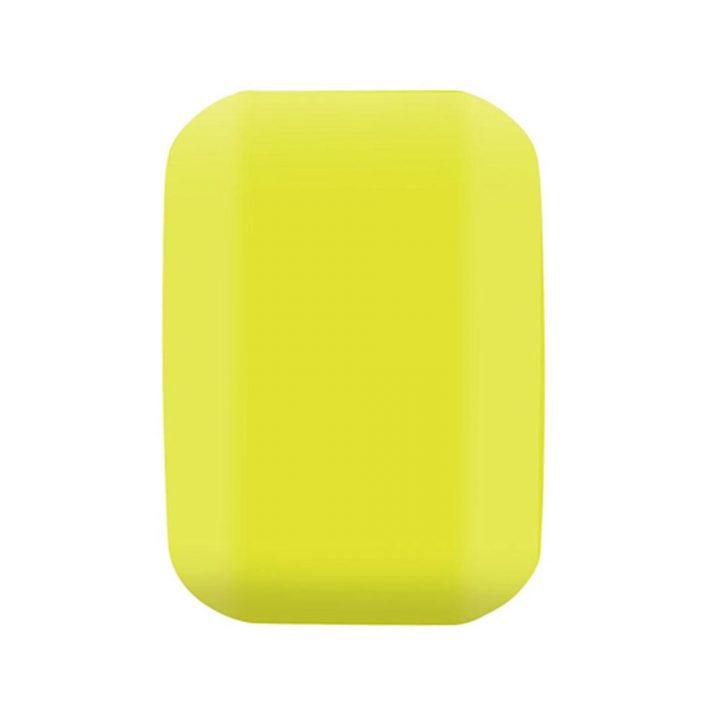 Santa Cruz Slime Balls Vomit Mini II Yellow 54mm 97a skateboard wheel side
