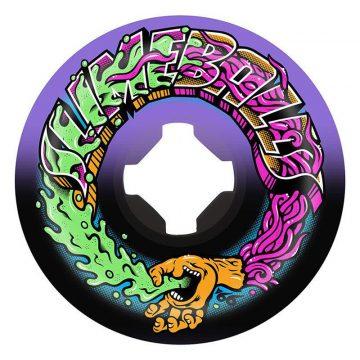 Santa Cruz Greetings Speedballs purple black 53mm 99a skateboard wheel front