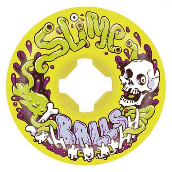 Santa Cruz Slime Balls Guts Speedballs Yellow 53mm 99a skateboard wheel front