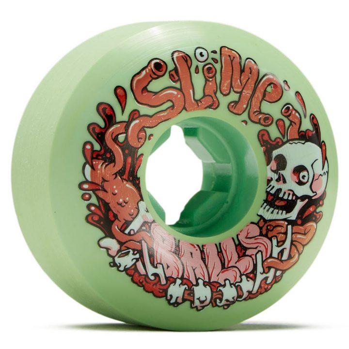 Santa Cruz Slime Balls Guts Speedballs Green 56mm 99a skateboard wheel front