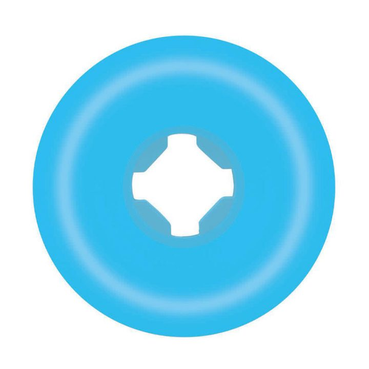 Santa Cruz Slime Balls Vomit Mini II Blue 53mm 97a skateboard wheel back