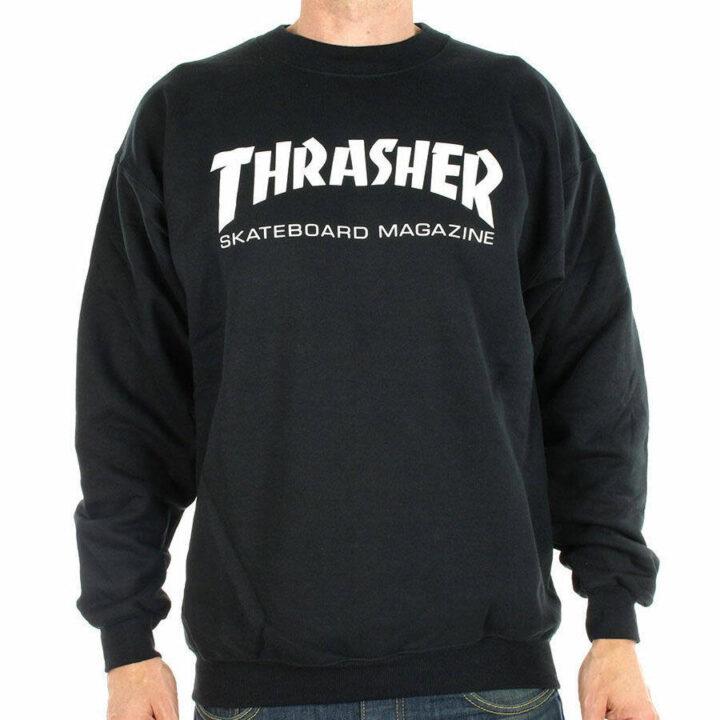 Thrasher skate mag crewneck black model