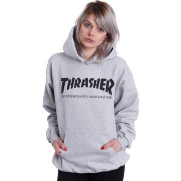 thrasher skate mag hoodie grey modell