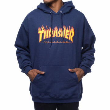 Thrasher Flame hood navy model