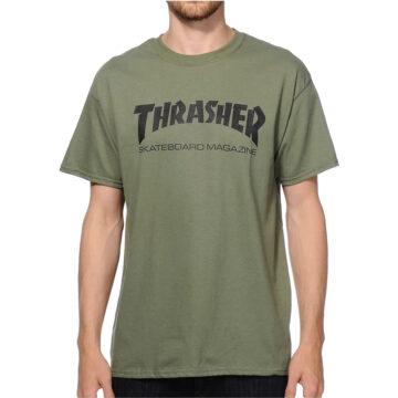 Thrasher skate mag t-shirt army model