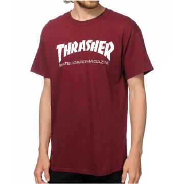 Thrasher skate mag t-shirt maroon model